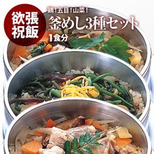 釜飯 の具 3種セット  五目 ・ とり ・ 山菜 釜めし 水を使わず即席で美味しい 早炊き米 ・ ...