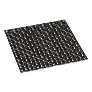おしゃれ コースター ブラックステッチ (1枚) 簡単に汚れが拭ける コースター 撥水仕様水洗いもできて清潔 インテリア の 敷物 にも maedaya