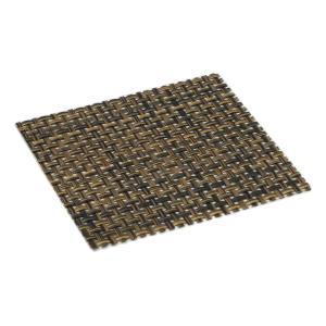 おしゃれ コースター ブラウンメッシュ (6枚セット) 簡単に汚れが拭ける コースター 撥水 仕様 水洗いもできて清潔 インテリア の 敷物 にも maedaya
