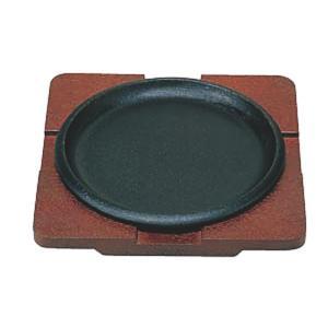 日本製 IH 対応 ステーキ 皿 セット 20cm 自宅でも使える プロ仕様 ハンバーグ スパゲティー 焼きそば など 鉄板焼 にも 木台 取り外し式 丸型 maedaya