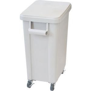 厨房用キャスターペール プラスチック製 排水栓付 45L グレー 国産 日本製|maedaya