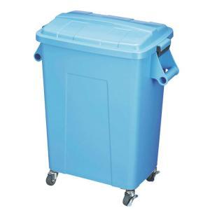 ダストペール プラスチック製 キャスター付 トンボ厨房ダストペール 70型 ブルー 蓋付 国産 日本製|maedaya
