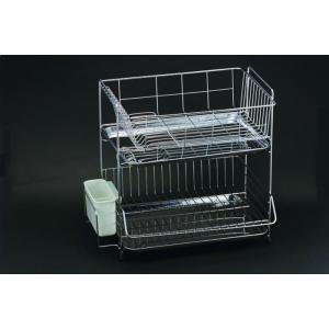 食器 の 水切り に 2段式水切りラック 18-8ステンレス 製 国産 日本製|maedaya