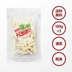 おつまみ 珍味 国産 一口 ナチュラル 濃厚 チーズ 3袋 110g×3 鱈との白身サンド ふぞろい チーズ おやつ に maedaya 02