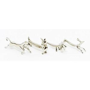 ナイフ & フォーク レスト 4種 × 1セット ( 馬 猫 犬 鹿 ) 箸置き 兼用 おしゃれ で かわいい ナイフレスト インテリアにも 日本製 国産|maedaya