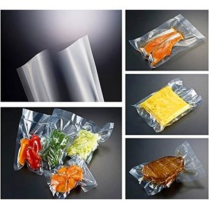 真空袋 真空パック器 シーラー対応 ナイロン ポリ 100枚 低温 -40℃ 加熱殺菌 95℃ 耐衝撃性 耐ピンホール性良好 220×350mm 食品保存 等|maedaya|04