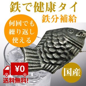 南部鉄 鉄 健康 鯛 鉄分 補給 国産 ・ 日本製 1個