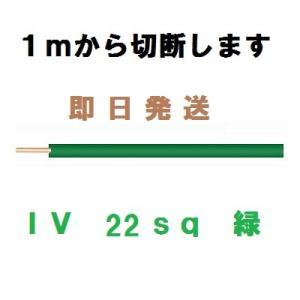 IV 22sq 緑 600Vビニル絶縁電線 1mから切断します|maegawadenki2