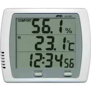 A&D 時計付き温湿度計 AD-5681|maeki
