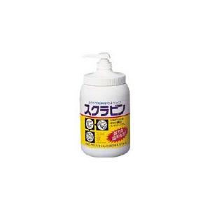 サラヤ 油汚れ用ハンドソープ スクラビン 1.2kgポンプ付 23104|maeki