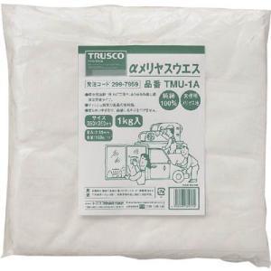 TRUSCO αメリヤスウエス1kg TMU-1A maeki