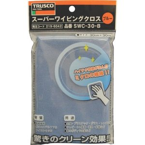 TRUSCO スーパーワイピングクロス300mm×300mm青 SWC-30 maeki