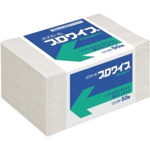 エリエール エリエールプロワイプソフトタオルホワイト帯どめLサイズ50枚 703146|maeki