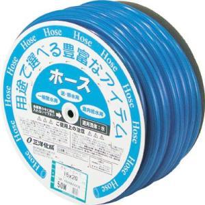 サンヨー ガゼットホース15×20クリアブルー50mドラム巻 GA-1520D50CB|maeki
