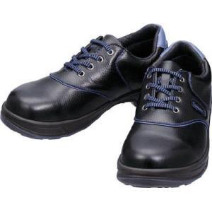 シモン 安全靴・短靴・SL11―BL黒/ブルー・23.5cm SL11BL-23.5