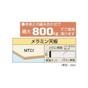 【送料無料】【代引不可】サカエ 中量用天板・メラミン天板 KT-1890MTCI|maeki