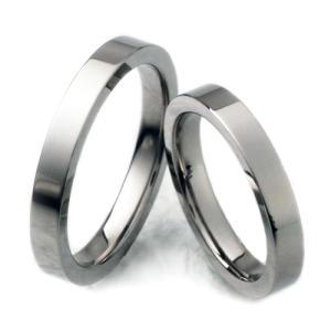 チタンリング TIRF03P 2本セット ペア、マリッジリング 結婚指輪 製造販売 彫刻無料  |maestrokan