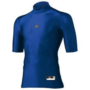 アンダーシャツ ミズノ(MIZUNO) バイオギア ハイネック/半袖 12JA4C3016 カラー/パステルネイビー|maesupo