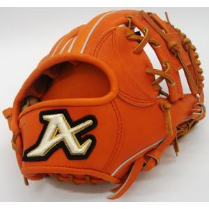硬式グラブ ATOMS(アトムズ) グローバルライン内野手用 AGL-401 カラー/オレンジ 右投げ用|maesupo