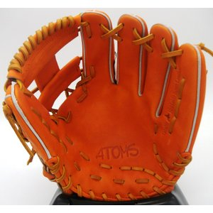 硬式グラブ ATOMS(アトムズ) グローバルライン内野手用 AGL-401 カラー/オレンジ 右投げ用|maesupo|03
