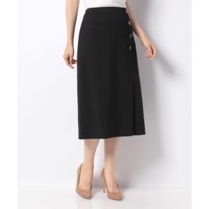 【ラピーヌ ブランシュ】【セットアップ対応】 ウールナイロンポンチ スカート|MAGASEEK PayPayモール店