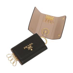 【プラダ】プラダ キーケース ダイノカラー ブラック ベージュ レディース PRADA 1PG004 2BG5 F0WCL MAGASEEK PayPayモール店