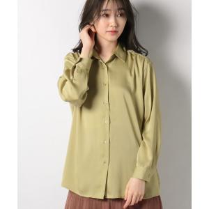 【メラン クルージュ】【Melan Cleuge women】サテンフレアシャツ|MAGASEEK PayPayモール店