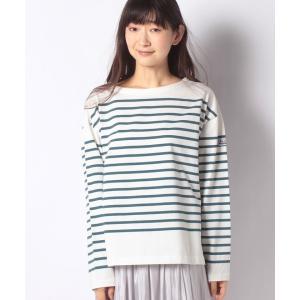 【メラン クルージュ】【Melan Cleuge women】パネルボーダーTシャツ|MAGASEEK PayPayモール店