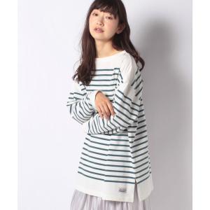 【メラン クルージュ】【Melan Cleuge women】パネルボーダーチュニックTシャツ|MAGASEEK PayPayモール店