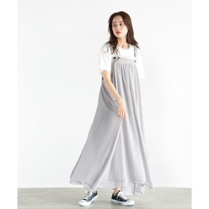 【ラシュッド】[LASUD] レースアップデザイン ジャンパースカート MAGASEEK PayPayモール店