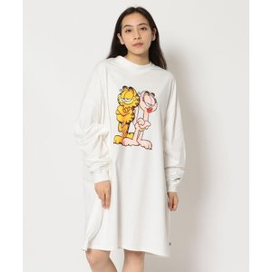 【エルエイチピー】Little sunny bite×Garfield/リトルサニーバイト×ガーフィールド/グラフィック長袖Tシャツ|MAGASEEK PayPayモール店