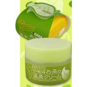 低刺激で健やか肌にする お茶の温泉クリーム40G/乾燥による...