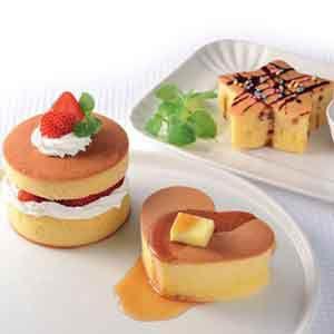 ふんわりホットケーキ型3個組 /ホットケーキ/パンケーキ/厚焼き/ふわふわ/焼き型/焼型/カフェ風/|magasin