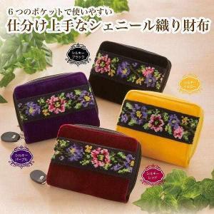 仕分上手なシェニール織財布|magasin