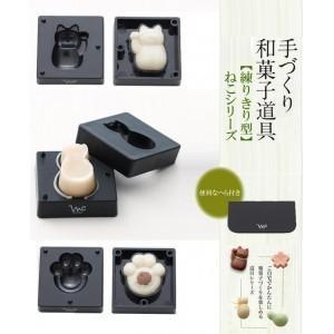 千葉真知子 手づくり和菓子道具 練りきり型 猫シリーズ(へら付)|magasin