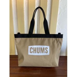 CHUMS(チャムス)  リサイクルチャムスロゴトートバッグ CH60-3129 サンド|magic-u-ladys