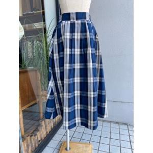 ディニテコリエ/Dignite Collier  メモリータフタスカート 801207-76ネイビー|magic-u-ladys