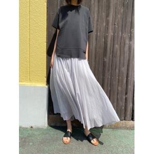 ディニテコリエ/Dignite Collier  フレアロングスカート HFI-802211-01グレージュ|magic-u-ladys