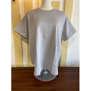 ディニテコリエ/Dignite Collier  ラウンドヘム半袖Tシャツ KAT-802100-01ライトグレー|magic-u-ladys