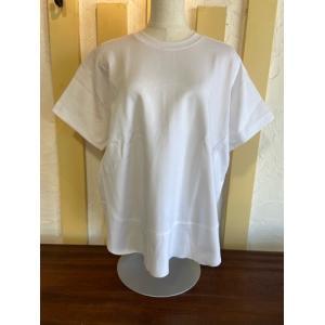 ディニテコリエ/Dignite Collier  ラウンドヘム半袖Tシャツ KAT-802100-31ホワイト|magic-u-ladys