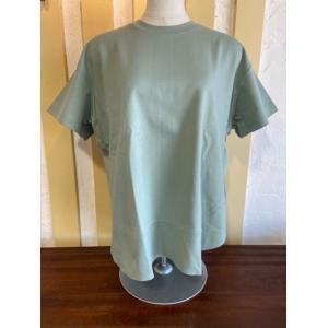 ディニテコリエ/Dignite Collier  ラウンドヘム半袖Tシャツ KAT-802100-50ミントグリーン|magic-u-ladys
