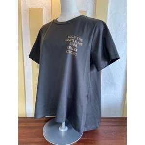 Dignite Collier ディニテコリエ  フレアプリントTシャツ  TW-802107-03 チャコール|magic-u-ladys