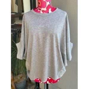 アルモニ/harmonie 鹿の子ビックTシャツ 62040645- 10トップグレー|magic-u-ladys