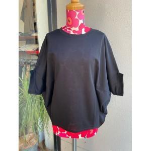 アルモニ/harmonie 鹿の子ビックTシャツ 62040645-15ブラック|magic-u-ladys