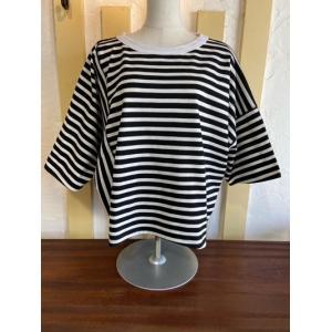 カーキ/kha:ki WIDE ASYM TOP アシンメトリーTシャツ MIL-21HCS240B ブラック×ホワイト|magic-u-ladys