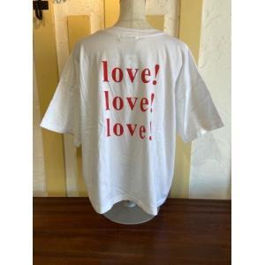ルメランジュ/Le Melange  バックプリントTシャツ 6111010-000ホワイト magic-u-ladys