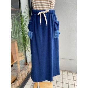NANEA/ナネア  リメイク風インディゴスカート M-2071710-B42ネイビー|magic-u-ladys