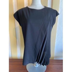 PASSIONE(パシオーネ) プリーツ使いTシャツ 026979-99ブラック|magic-u-ladys