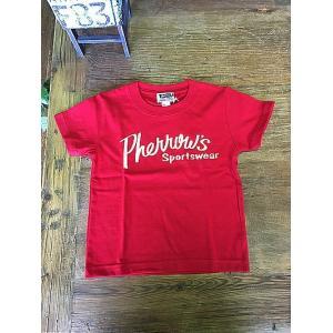 Pherrow's kid's(フェローズキッズ) ロゴTシャツ 17S-PT1-KIDS RED|magic-u-ladys
