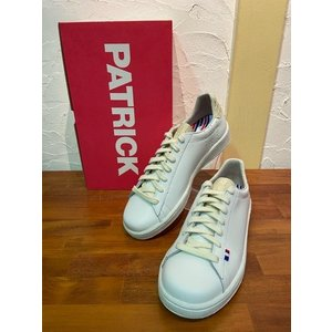 パトリック/PATRICK QUEBEC-E.C WBG ケベックエナメルクロコ型押し 501793 ホワイト×ベージュ|magic-u-ladys